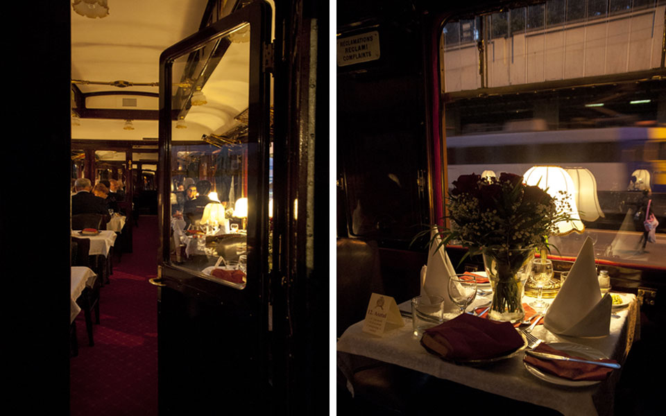 Dinner on the Orient Express