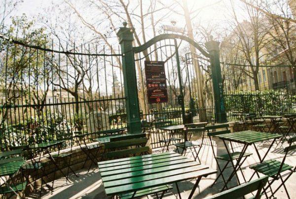 café terraces in budapest